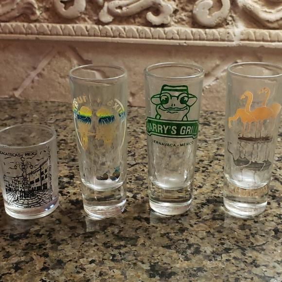 4 Mexico shot glasses